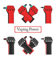 vape power fists vector image