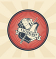 vintage badge sticker vector image