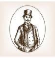 Vintage gentleman sketch style vector image vector image
