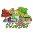 warsaw doodles vector image vector image