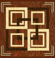 wooden square inlay light and dark wood patterns vector image vector image