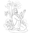 agony in the garden coloring page vector image