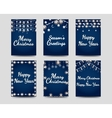 New year and christmas cards vector image