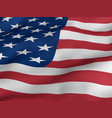 usa flag close up waving in the wind vector image
