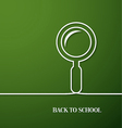 Back to school card with paper magnifying glass vector image