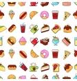 Food flat black line vector image