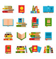 flat books set vector image