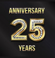 25 years anniversary card design design vector image vector image