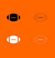 american football ball black and white set icon vector image