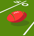 american football ball green field game sports vector image vector image