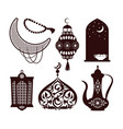 arabian culture concepts set vector image