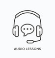 audio lessons line icon outline vector image vector image