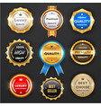 award and quality labels isolated emblems vector image