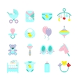 Baby Colored Icon Set vector image vector image