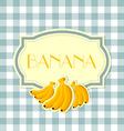 Banana label vector image vector image