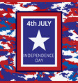 banner camouflage independence day of america vector image
