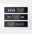 black friday stylish premium banners set modern vector image vector image