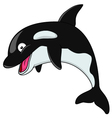 Black Orca cartoon vector image vector image