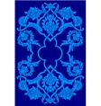blue artistic ottoman motif series vector image
