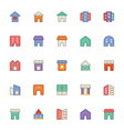 Building and Furniture Icons 10 vector image vector image