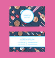 business card template for beauty brand or vector image vector image