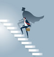 businessman superhero successful in career ladder vector image vector image