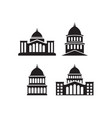capitol icon design set bundle template isolated vector image vector image