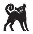 cartoon black cat halloween character vector image vector image