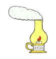 comic cartoon old style lantern vector image vector image