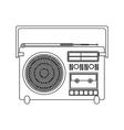 contour silhouette sound recorder portable vector image