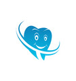 dental family clinic logo template isolated icon vector image vector image
