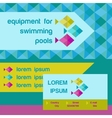 design elements for water sanitary complexes vector image