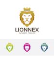 elegant lion logo vector image vector image