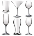 Empty glass set vector image vector image