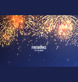 festive fireworks realistic colorful firework on vector image vector image