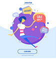 flat design modern concept of vector image