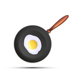 Frying pan with fried eggs vector image