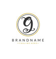 g letter logo design template vector image vector image