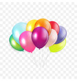 glossy happy birthday concept with balloons vector image vector image