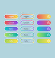 gradient buttons web ui elements colored template vector image
