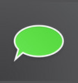 green comic speech bubble for talk at oval shape vector image