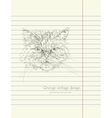 Hand drawing sketch cat vector image vector image