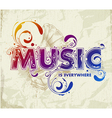 Hand drawn music lettering vector image
