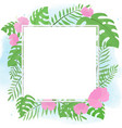 hand drawn summer tropical flower botanical flat vector image vector image