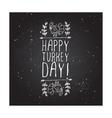 Happy turkey day - typographic element vector image