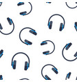 headphone headset icon seamless pattern vector image vector image