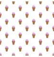 ice cream summer pattern seamless vector image