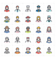 icon set - avatar and people color vector image vector image