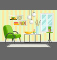interior living room furniture and home decor vector image vector image
