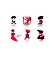 lady logo design collection fashion shop or vector image vector image